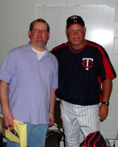 Interviewing former Minnesota Twins manager Ron Gardenhire at spring training in Fort Myers, Fla., several years ago.