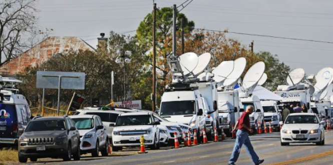After media swamp grieving Texas town, one journalist suggests: 'We can dobetter'